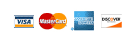 Visa, MasterCard, American Express, Discover - Accepted Here