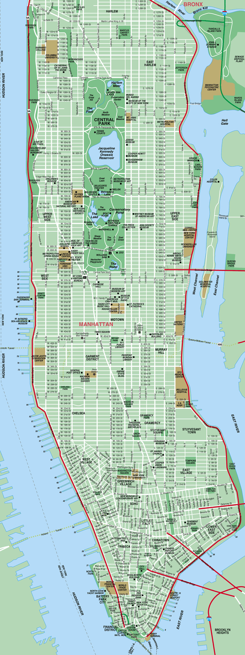 Map of Manhattan New York, NY System, http://www.new-york-city-map.com/manhattan-map.gif